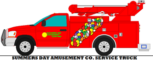Summers Day Amusement Co  Service Truck by mcspyder1
