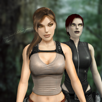 Your death behind you Lara by Cat32