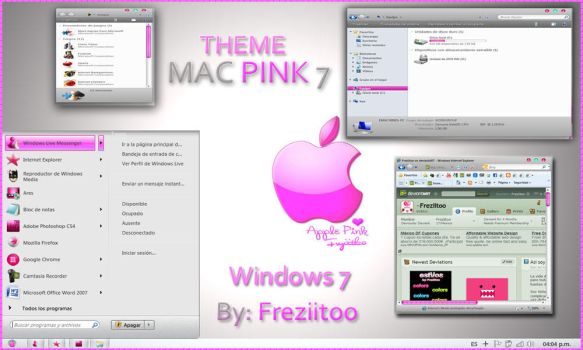 Theme MacPink 7 by Freziitoo