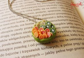Polymer clay fruit tart 2 by Benia1991