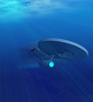Starship Enterprise Undersea - 17 Feb 2016 by Big-Al-Son86