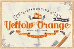 Yellow Orange lettering by inumocca