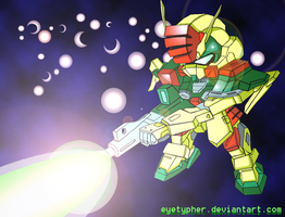 GAT-X 103_SD Buster Gundam by eyetypher