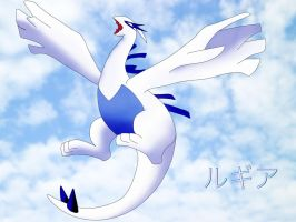 Lugia In The Sky by hermio