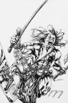 Skaar Son of Hulk 8 Lineart by davidyardin