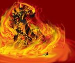 Fire Colossus - Rift Scorcher by AjDrawer