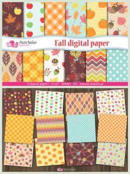Fall digital paper by PolpoDesign