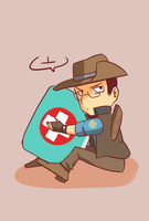 TF2- don't touch my healthpack by EunDari