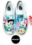 Adventure Time Vans by felixartistixcouk
