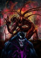 CARNAGE AND VENOM by rivaloya