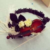 Last Melody Violin Hair Accessory by sweetmildred