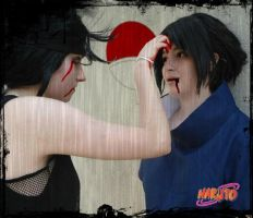 itachi vs sasuke cosplay by yvelise