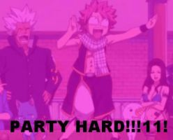 Party Hard Natsu by RianonFTW