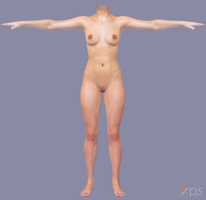 Muscle Nude Female Body by g1pno