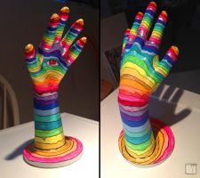 Acrylic on hand thing by SuperPhazed