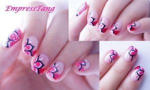Pointed Flowers and French Manicure by EmpressTang