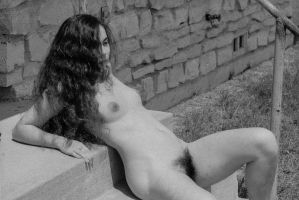 Concrete Steps, Nude, Pubic Hair by rylstone