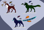 Mythic Wolf Adopts (OPEN 1/3) by CrimsonAlpha