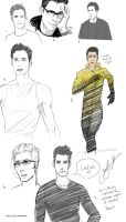 Dr. Harrison Wells sketches by CheshFire