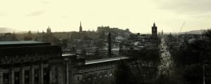 Edinburgh Old and New Town by Beachrockz4eva