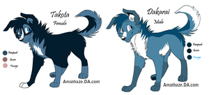 Old Sparkle Wolf Oc Sale *Both Taken* by FaineSpades