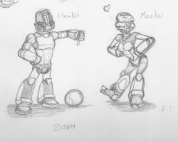 Matoran Set 01 - Hewkii and Macku by Faybos