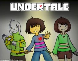 Undertale - Frisk,Asriel and Chara by Masteryeah037