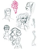 Sketches 1 by fyre-flye