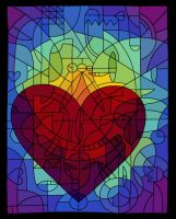 Stained Glass Heart by TimareeZadel