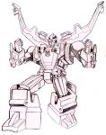Botcon Shrapnel Card art by beamer