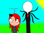 Amanda and slender man first incounter by caitlinthehedgehog34