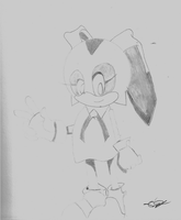 Cream the rabbit sketch by dsh1202