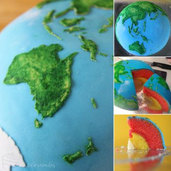 Commission: Earth Structural Layer Cake by cakecrumbs