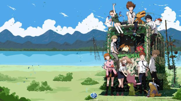 Digimon Adventure Tri Train Wallpaper by Dr-Roflcopter