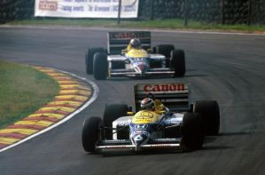 Nelson Piquet | Nigel Mansell (Great Britain 1986) by F1-history