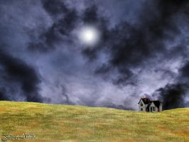 House on the Lonely Prairie by TheFaceArtiste
