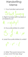 My handwriting is ppuuuuuuurdy by SilentImagery