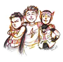 Damian, Billy, and Loki by msciuto