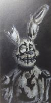 Fnaf 3 - Springtrap (Painting) by InkStainsArtXD