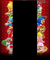New Super Mario Bros DS-Wii Youtube Background by Pheonixmaster1