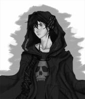 Nico di Angelo The Years Of My Longing Grayscale by InfiniteCity