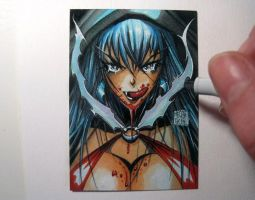 Vampirella sketch card manga by MelikeAcar