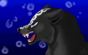 My Wolf Snarling by edizzle13