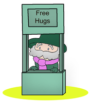 Free Hug Booth by thesassylorax