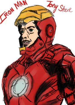 Iron Man- Colored by yinyangbabe256
