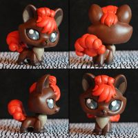 Vulpix Littlest Pet Shop custom by pia-chu