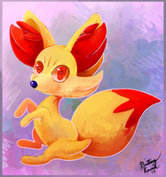 Fennekin by bluedemon00