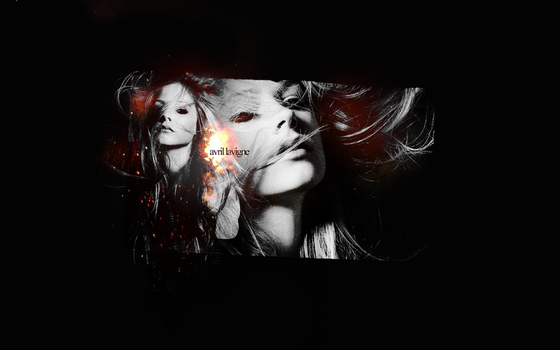 Wallpaper with Avril Lavigne by punkieheart
