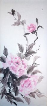 [Sumie] Peonies by bsshka