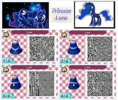 Princess Luna-Animal crossing qr code by DaisyFlower5
